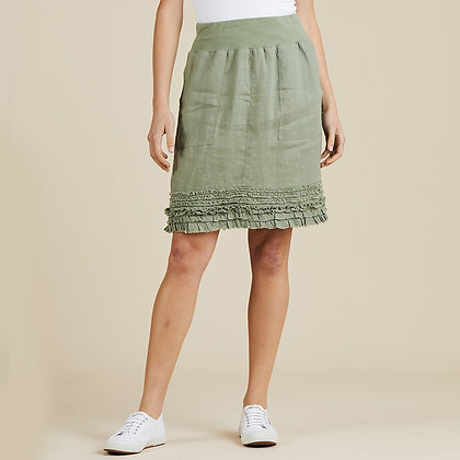 Ruffled Hem Pull On Skirt