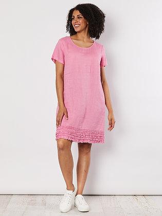 Linen Ruffle Hem Dress