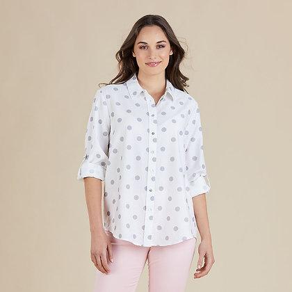 Silver Spot Print Shirt