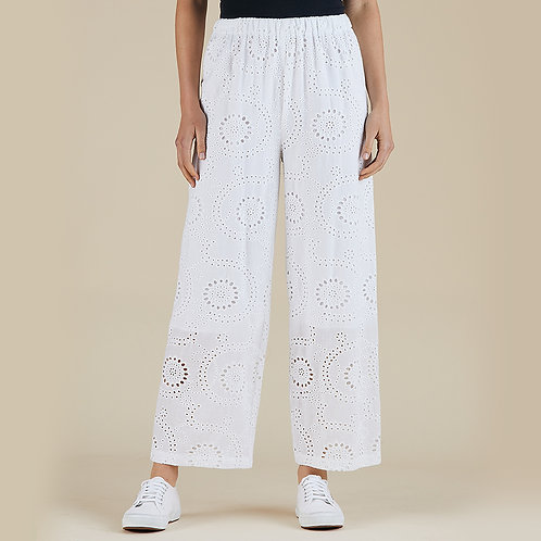 Bella Broderie Cotton Pant