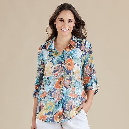 Sorrento Blue Print Shirt