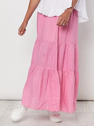 Linen Tiered Skirt