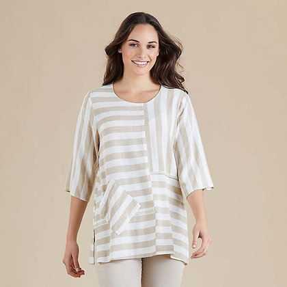Butcher Stripe Multi Panel Top