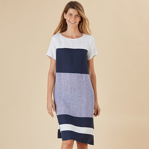 Amalfi Coast Linen Dress