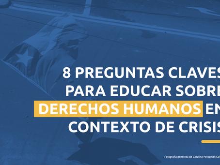 INDH produce documento para tratar el tema de los Derechos Humanos en el aula.