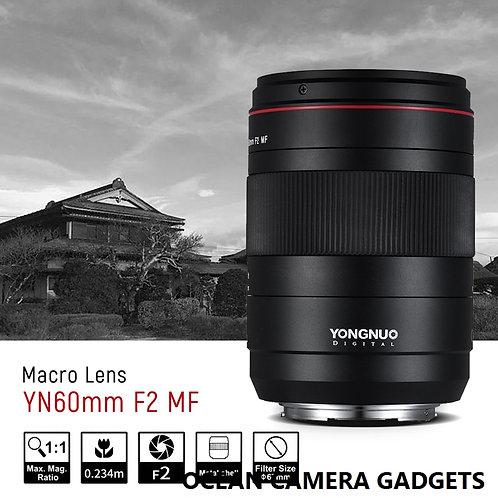 Yongnuo YN 60mm f/2 MF macro prime lens for Canon DSLR