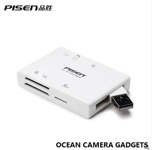 PISEN Multi-Function Card Reader II Digital Camera/Cell Phone/Flash Media Memory