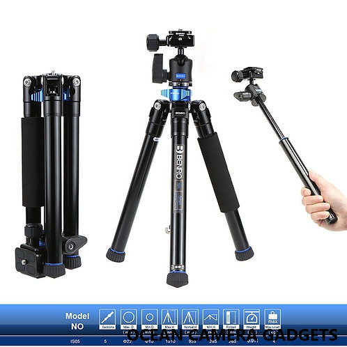 Benro IS05 Portable Aluminum Video Camera Tripod Photo Monopod Selfie Stick