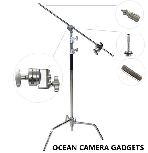 Studio Heavy Duty Stainless Steel Light C Stand