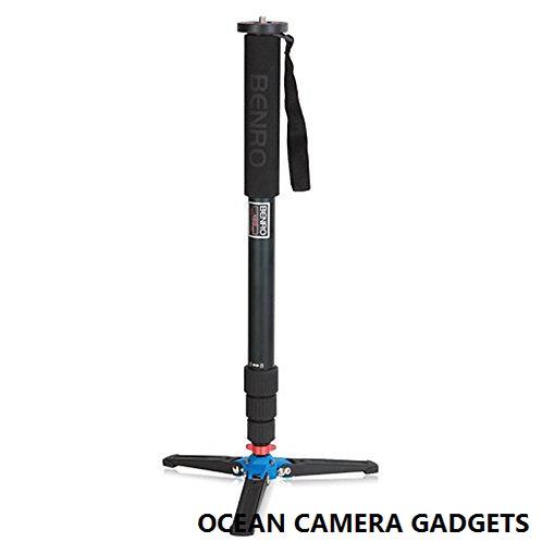 Benro C38TD Carbon Fiber Monopod Camera DSLR 4 Section tripod with 3 leg base