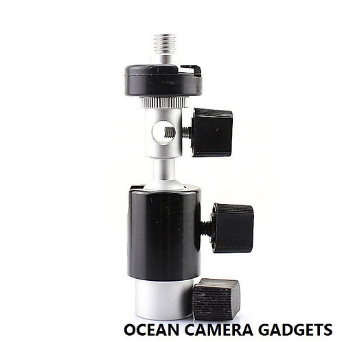 Camera Flash Shoe Bracket D Type Umbrella Holder Swivel Light Stand 1/4 3/8 inch