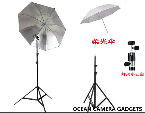 Professional Photography Photo Lighting Kit Set with Umbrella Light Stand D type
