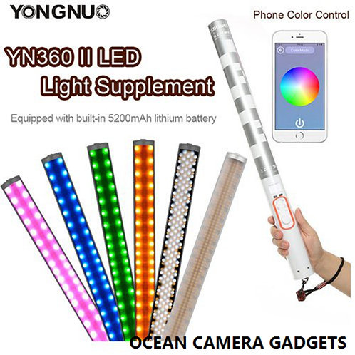 Yongnuo YN360II light stick color adjustable RGB photography LED video lights