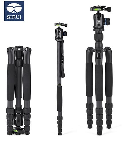 SIRUI T-1205SK+k10X T1205SK carbon fiber tripod SLR camera