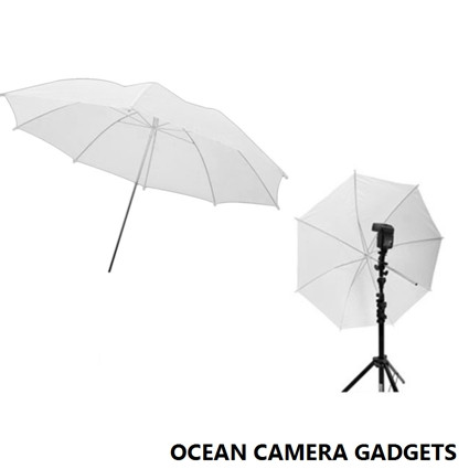 Next    33 inch Photography Studio Video Light Flash Speedlight Soft Umbrella Translucent White Black Silver Reflector  is now in Ocean Camera Gadgets Camera Store! Best Price in Singapore! FREE shipping!     Photography soft umbrella details Size: 83cm After opening width: 33 inches  Fold length: 58cm (length close up) 33 inches soft umbrella using eight metal steel frame design More stable, durable Main features: soft umbrella allows diffuse light to produce Eliminated or reduced lighting shadow Thereby enabling the pickup look soft and delicate Main purpose: for passport Character models, shooting still life with. Mainly used for wedding photo studio, art portrait Children photography, advertising product photography, passport, etc.     Two models are available: White color/ Black and silver color  Photography Studio Video Light Flash Soft Umbrella Translucent Reflector
