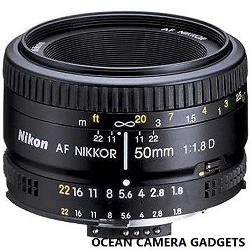 Nikon AF NIKKOR 50mm f/1.8D Lens for Nikon DSLR camera
