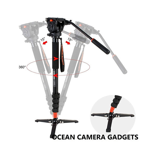 COMAN KX3232 Lightweight Aluminum Video Camera Monopod Kit with Q5 Fluid Head