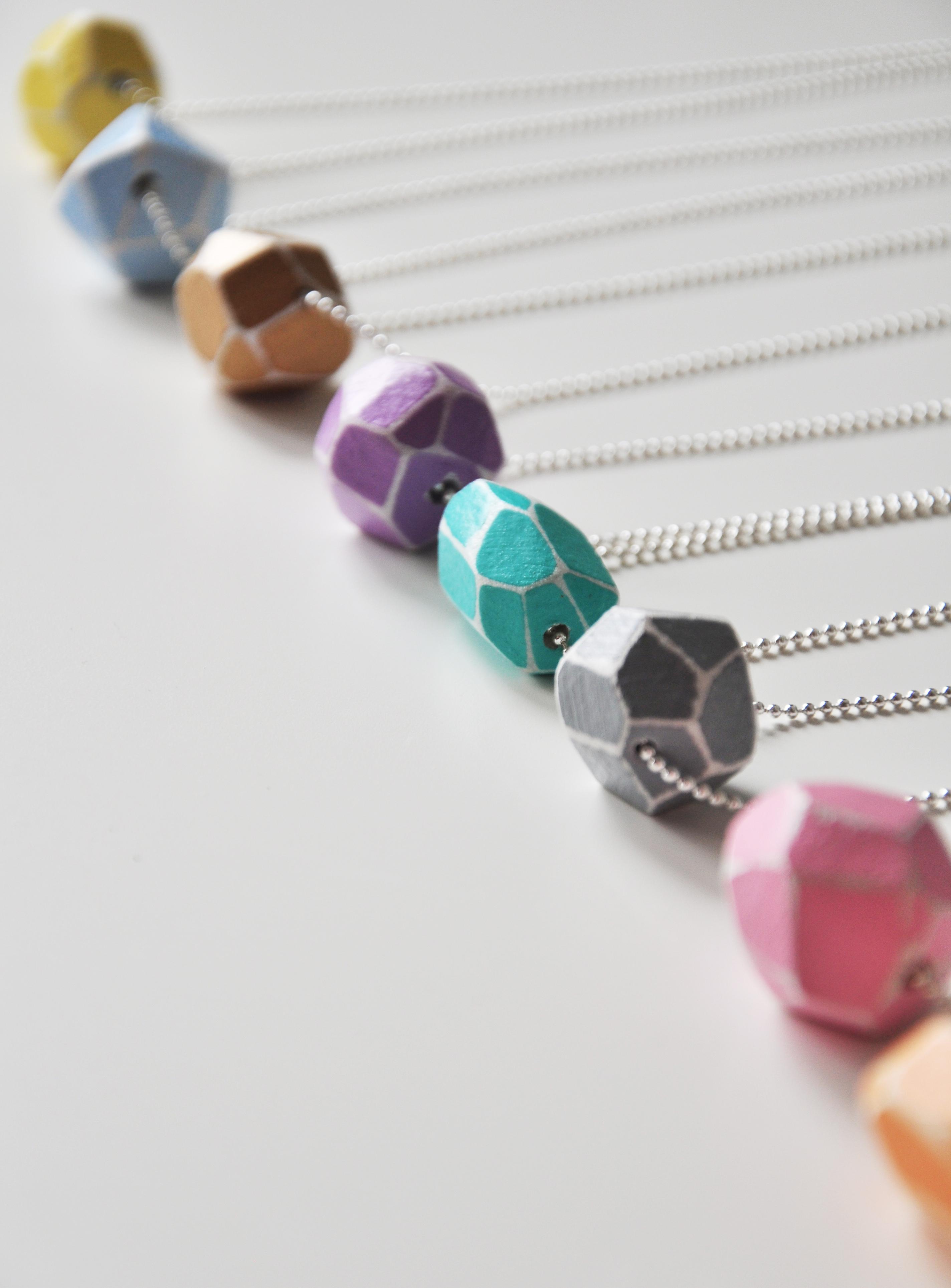 GEO bead necklaces