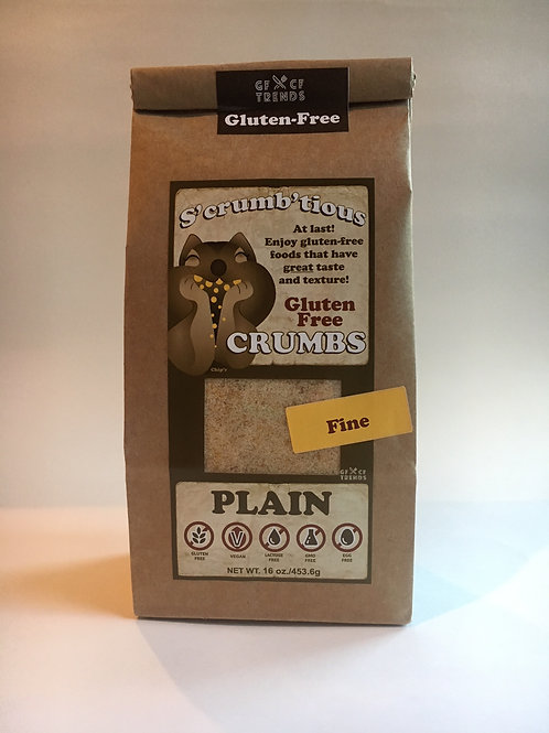 Fine S'crumb'tious CRUMBS - Plain  (16 ounces)