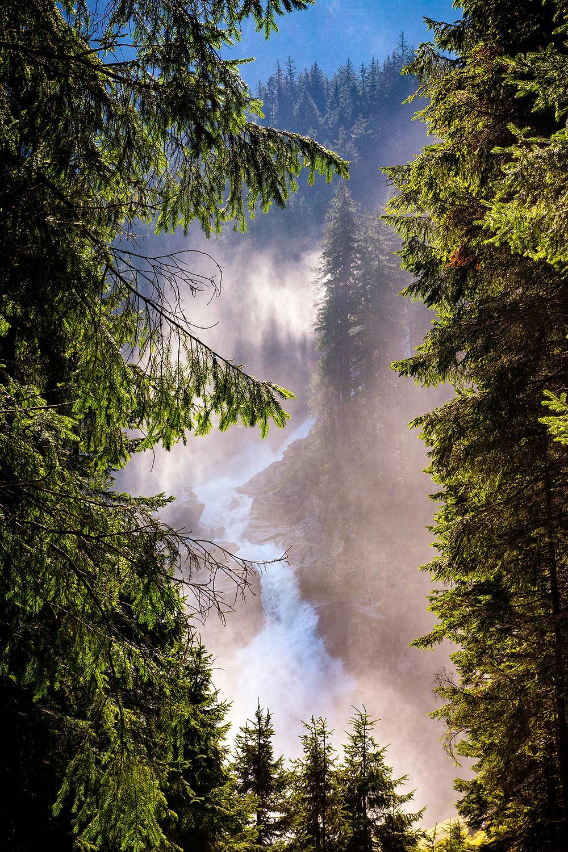 Krimmler Wasserfälle mit Gischt