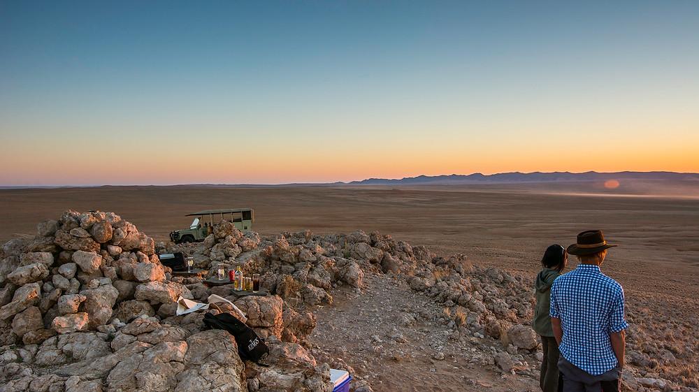 Man sollte jede Gelegenheit für einen Sundowner in Namibia nutzen