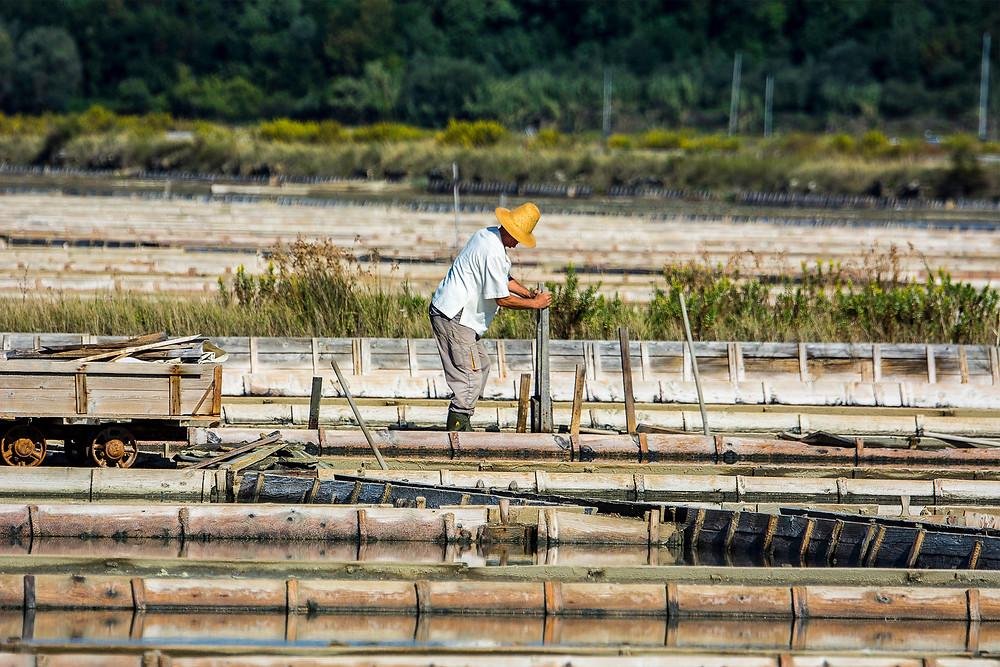 Slowenien hat eine der wenigen Salinen weltweit, wo noch alles von Hand gemacht wird