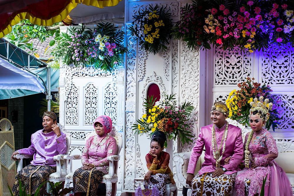 tradidionelle indonesische Hochzeit
