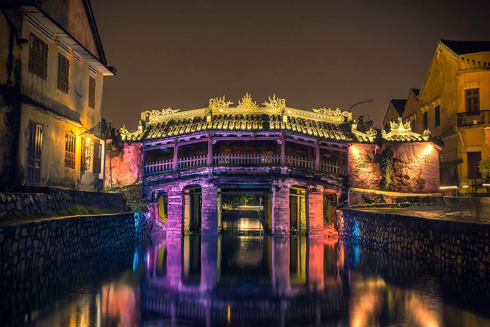 Die Japanische Brücke ist das Wahrzeichen von Hoi An