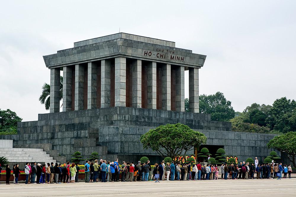 Das Ho-Chi-Minh Mausoleum in Hanoi
