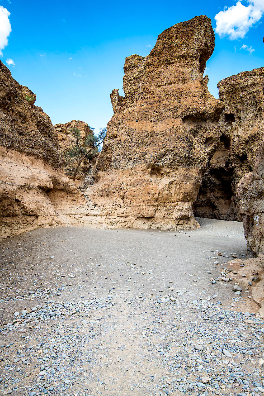 Treppe in den Sesriem Canyon