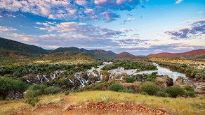 Die Epupa Wasserfälle in Namibia