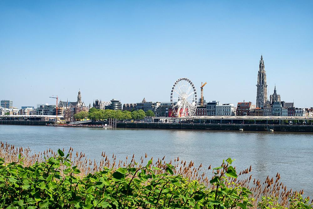 Blick auf Antwerpen