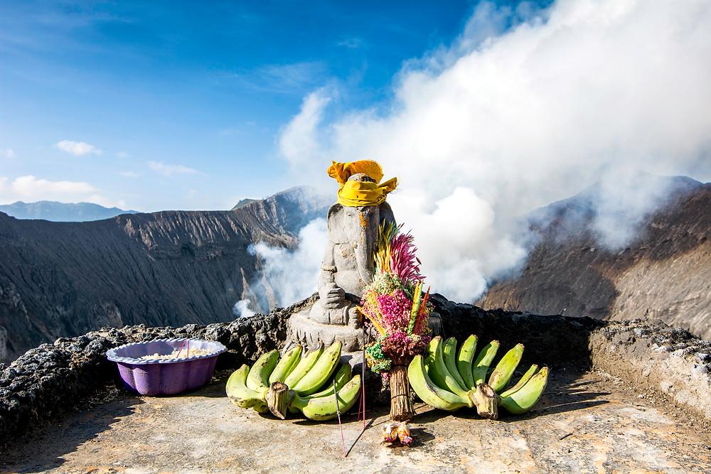 Hindu-Gottheit Brahma auf Mount Bromo