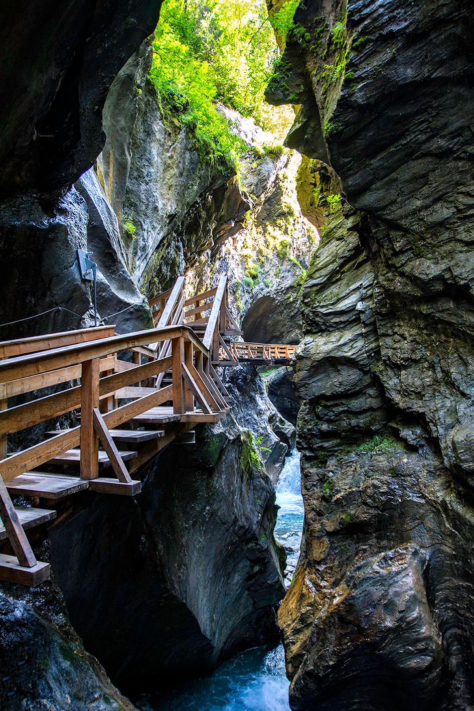 Der Weg durch die Sigmund-Thun-Klamm