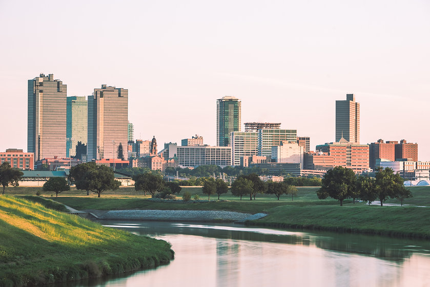 Fort Worth Skyline with Trinity River.jp