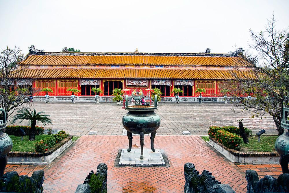 Der The Tempel in der Kaiserstadt in Hue