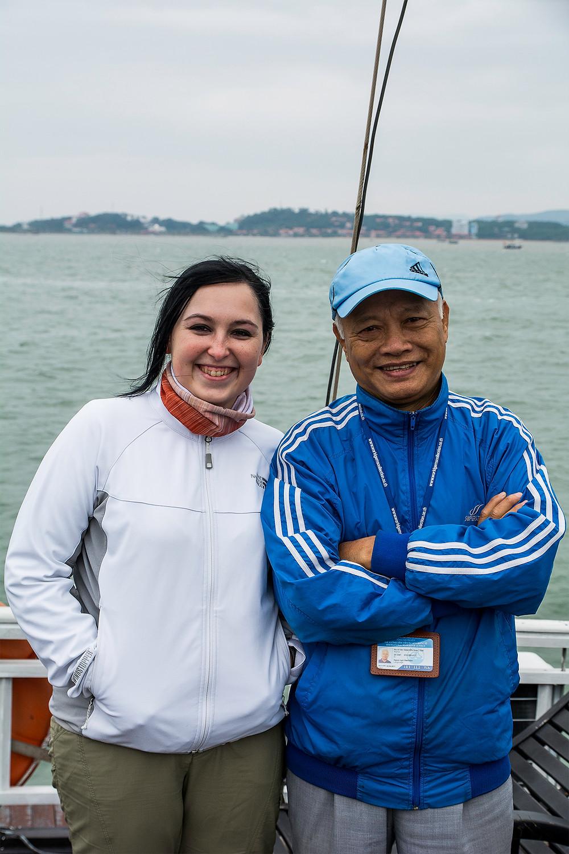 Tan und Verena in der Halong Bucht
