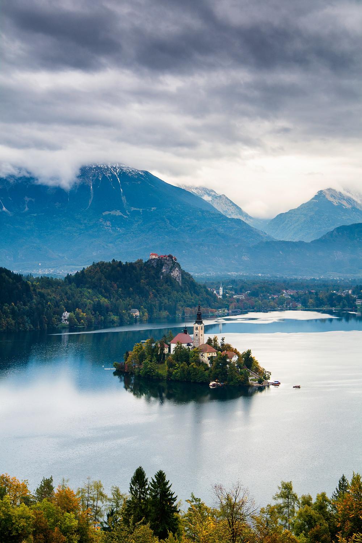 Es lohnt sich den Aufstieg zum Aussichtspunkt in Bled zu machen um diesen Ausblick zu bekommen
