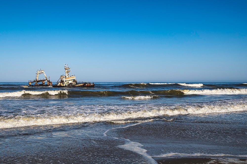 """Schiffswrack """"Zeila"""" an der namibischen Küste"""