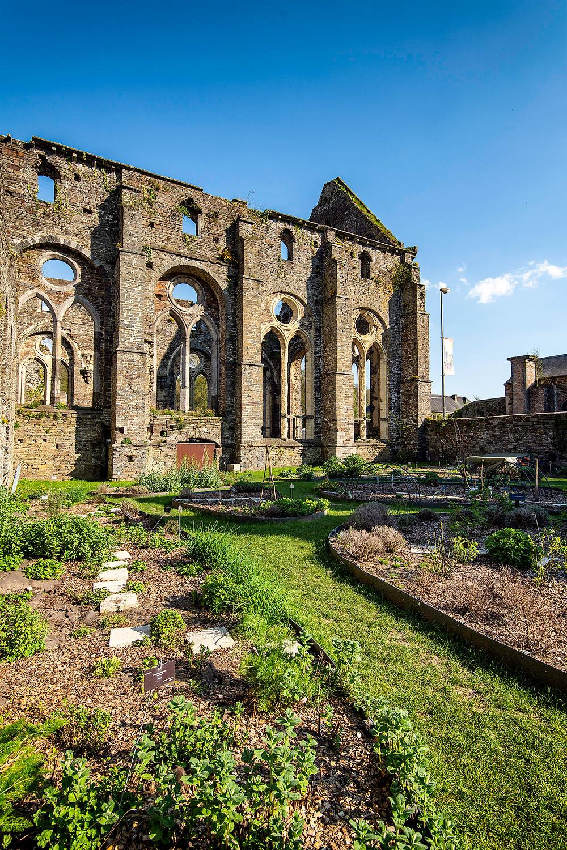 Der Garten der Heilpflanzen im Kloster Villers