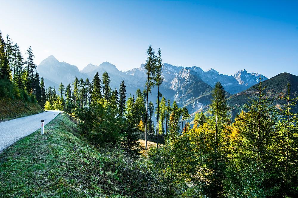 Eine sehr gute Alternative zur öden Autobahn ist der Paulitsch-Sattel ( Pass ) zwischen Slowenien und Österreich