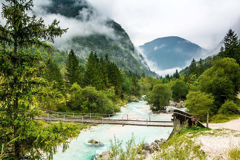 Das Soca Tal ist landschaftlich eines der schönsten Teile von Slowenien