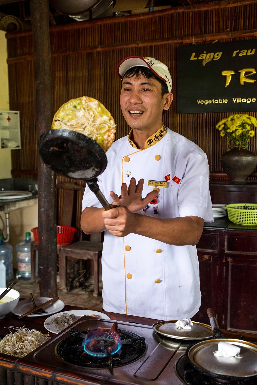 Rezept für Banh Xeo Vietnamesische Pfannkuchen