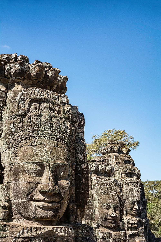 Gesichter von Angkor Wat Tempelanlage