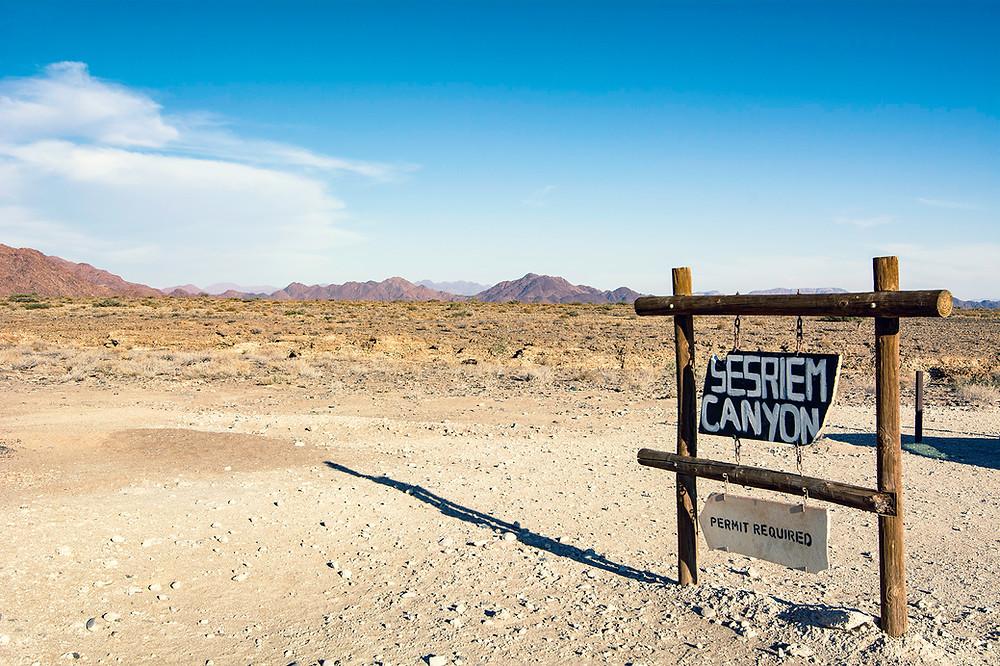 Sesriem Canyon Namibia Eingang