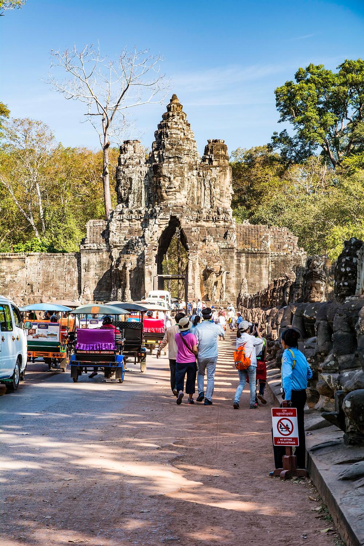 Angkor Tempelanlage Gesichter