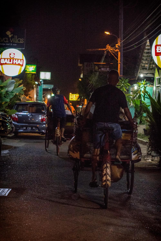 Fahrradrikscha in Yogyakarta
