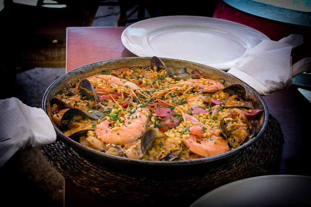 Paella im Restaurant des Kloster Lluc