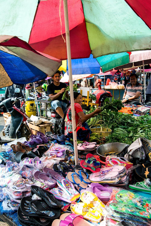 Straßenmarkt in Indonesien