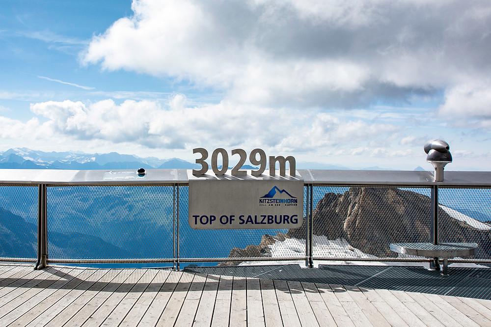Top of Salzburg Kitzsteinhorn